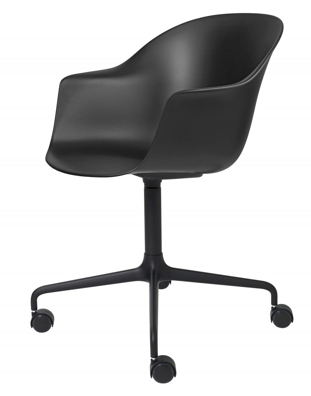 Bat meeting chair - 4 star swivel base with castors - un-upholstered