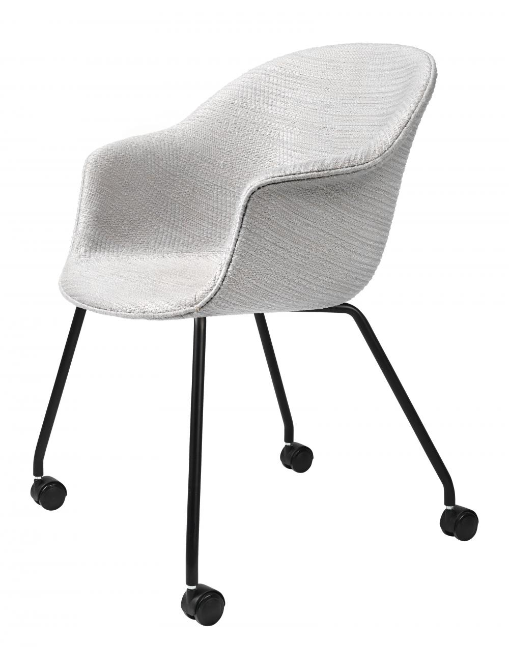 Bat meeting chair - 4 legs with castors - fully upholstered