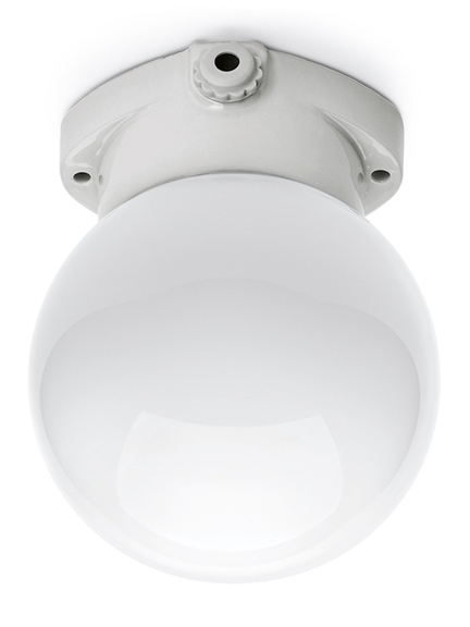 Scandilux ceiling light - opal glass globe