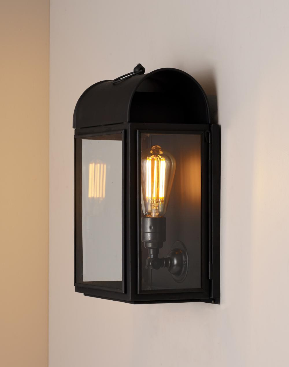 Domed box wall light