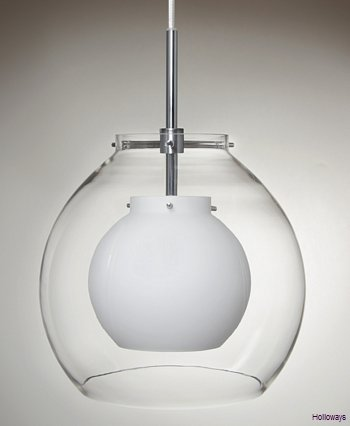 Duo Globe pendant - Clear