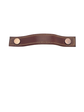 Leather stitched strap handle