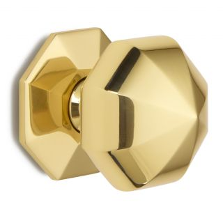 Large octagonal centre door knob