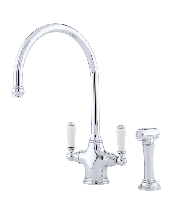 Phoenician monobloc sink mixer with rinse