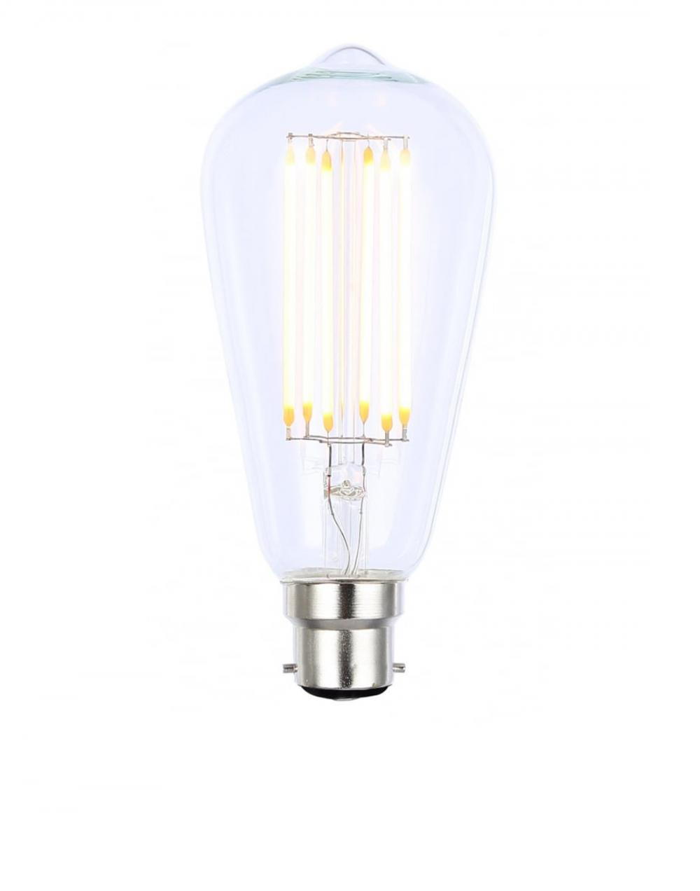 LED dimmable filament teardrop bulb - B22