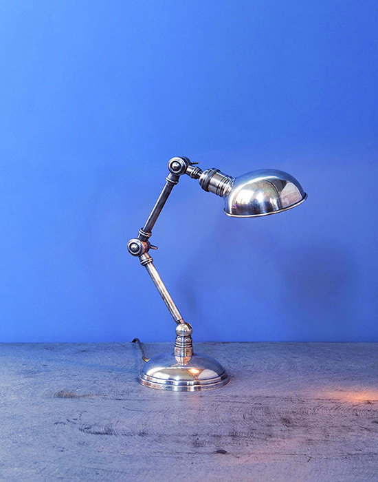 Small Pewter Dome Table Lamp