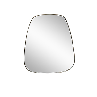 Metal framed trapezium mirror