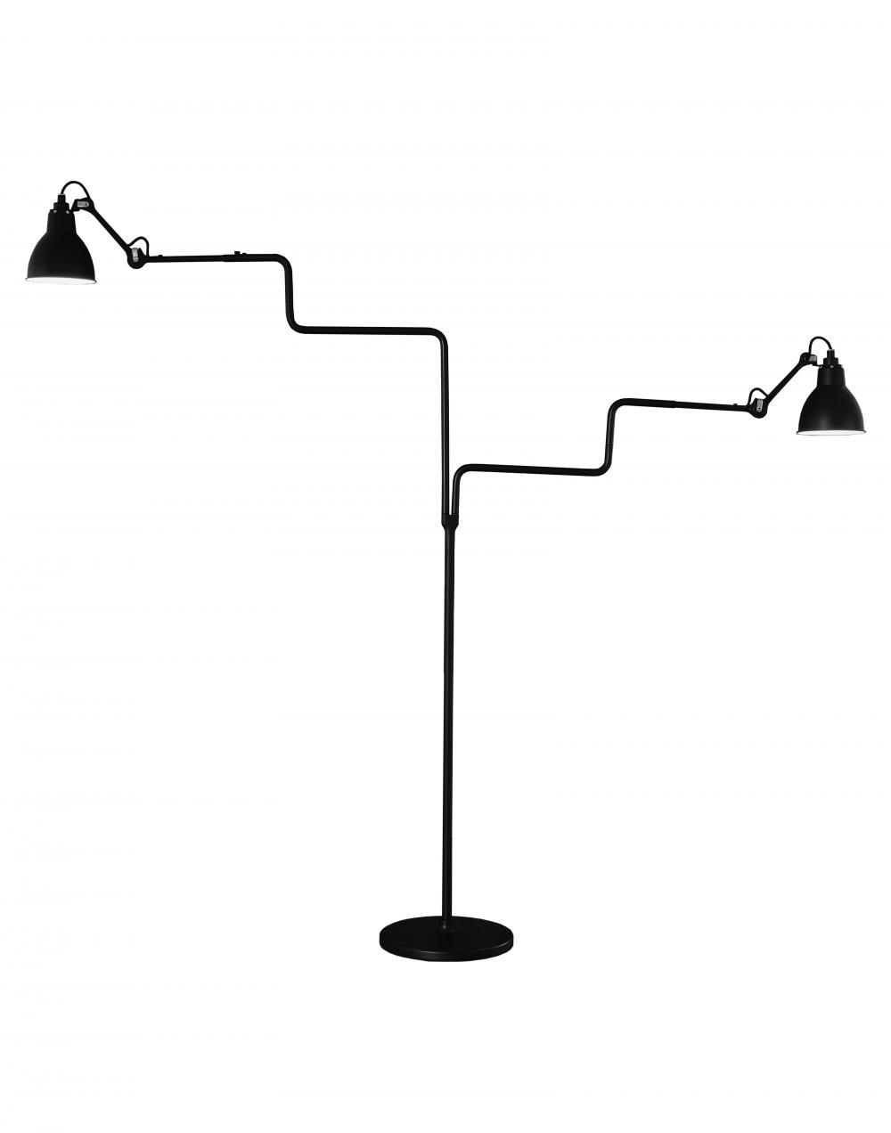 Lampe Gras 411 double floor light